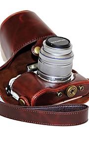 dengpin custodia in pelle per fotocamera custodia per olympus e-pl8 epl7 14-42 (colori assortiti)