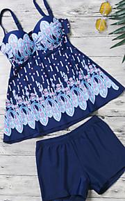 ספורטיבי לנשים בגדי ים נושם / ייבוש מהיר ביקיני פוש אפ מיתרים שחור שחור M / L / XL / XXL / XXXL