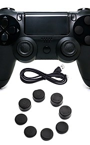 Wired Game Controller Gamepad Controller Joystick Gamepads with Silicone Cap for PS4