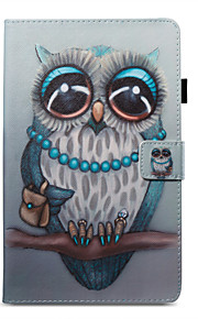 Case For Amazon Card Holder Wallet with Stand Pattern Auto Sleep/Wake Up Full Body Owl Hard PU Leather for Kindle Fire 7(5th Generation,