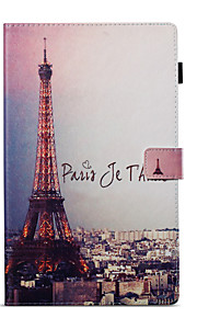 Case For Amazon Wallet with Stand Flip Pattern Auto Sleep/Wake Up Full Body Eiffel Tower Hard PU Leather for Kindle Fire hd 10(7th