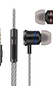 X200 귀에 유선 헤드폰 동적 플라스틱 모바일폰 이어폰 하이파이 헤드폰