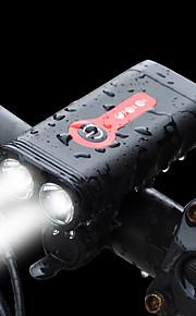 자전거 전조등 LED LED 싸이클링 빠른 충전 2.0과 함께 충전지 1200 루멘 붙박이 Li 건전지는 강화했다 화이트 사이클링