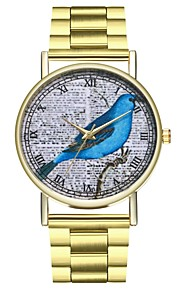 Homens Mulheres Relógio de Moda Relógio Casual Chinês Quartzo Cronógrafo Relógio Casual Aço Inoxidável Banda Criativo Fashion Dourada