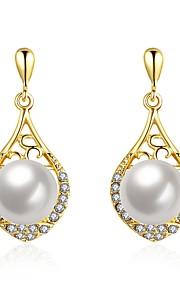 Damskie Kolczyki wiszące Z pudełkiem Pearl imitacja Modny Słodkie Stop Kropla Biżuteria Ślub Codzienny Biżuteria kostiumowa