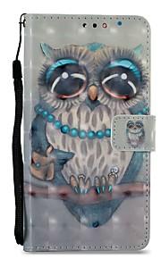 Capinha Para Xiaomi Redmi 5 Redmi 5 Plus Porta-Cartão Carteira Com Suporte Flip Magnética Capa Proteção Completa Corujas Rígida PU Leather