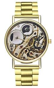 Homens Mulheres Único Criativo relógio Relógio de Moda Chinês Quartzo Cronógrafo Mostrador Grande Fase da lua Aço Inoxidável Banda Fashion