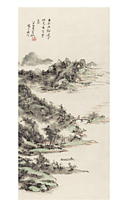 Rolled Canvas Prints Classic, One Panel Brocade Xuan paper Vertical Print Wall Decor Home Decoration