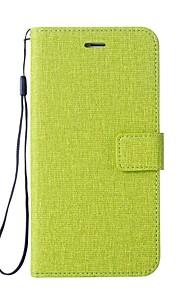 Custodia Per LG K3 (2017) Porta-carte di credito A portafoglio Con supporto Con chiusura magnetica Integrale Tinta unica Resistente pelle