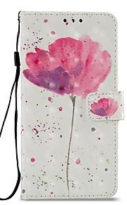 Capinha Para Xiaomi Redmi 5 Redmi 5 Plus Porta-Cartão Carteira Com Suporte Flip Magnética Capa Proteção Completa Flor Rígida PU Leather