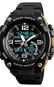 SKMEI Homens Digital Relogio digital Relógio de Moda Relógio Esportivo Chinês Calendário Cronógrafo Impermeável Noctilucente Cronômetro PU