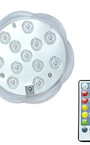 BRELONG® 1pc 3W Undervannslys Fjernstyrt Vanntett Dekorativ Svømmebasseng RGB 5.5V