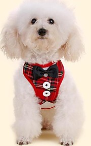 Dogs Furry Small Pets Pets Tuxedo Leash Tie / Bow Tie Dog Clothes Plaid / Check Bowknot Classic Red Black Fabric Costume For Pets Animals