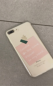 Case For Apple iPhone 6 Plus / iPhone 7 Plus Pattern Back Cover Word / Phrase Soft TPU for iPhone 7 Plus / iPhone 7 / iPhone 6s Plus