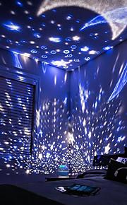 LED-belysning Projektorlampe Leke Night Lamp Sky Scene Rund Glødende Galakse og stjernehimmel Romantikk