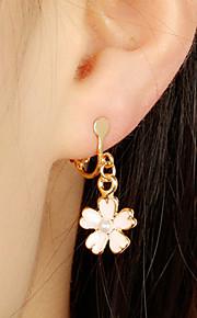Γυναικεία Κρεμαστά Σκουλαρίκια Σκουλαρίκια με Κλιπ Σκουλαρίκια Άνθινο    Βοτανικό Λουλούδι κυρίες Απλός Κοσμήματα Ροζ Για 2f0ef20edfc
