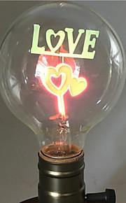 1pç 2W E26/E27 G80 Branco Quente 2200-2800k K Retro Decorativa Incandescente Vintage Edison Light Bulb 220-240V