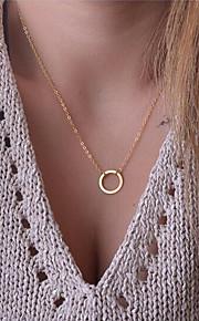 Herre Dame Halskædevedhæng - Basale Mode Cirkelformet Guld 42cm Halskæder Til Gave Daglig