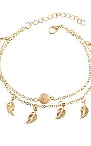 Dame Charm-armbånd Afslappet Mode Legering Guld Sølv Bladformet Smykker Daglig I-byen-tøj Kostume smykker