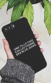 Case For Apple iPhone 6 Plus / iPhone 7 Plus Pattern Back Cover Word / Phrase Hard PC for iPhone 7 Plus / iPhone 7 / iPhone 6s Plus