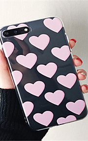 Case For Apple iPhone 6 Plus iPhone 7 Plus Transparent Pattern Back Cover Heart Soft TPU for iPhone 7 Plus iPhone 7 iPhone 6s Plus iPhone