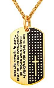 Herre Dame Rustfrit Stål Halskædevedhæng - Mode Geometrisk form Guld Sølv 55cm Halskæder Til Daglig