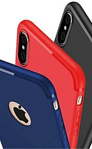 Kılıf Na Apple iPhone X iPhone 8 iPhone 6 iPhone 7 Plus iPhone 7 Szron Czarne etui Solid Color Miękkie Silikonowy na iPhone X iPhone 8