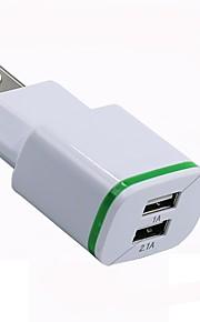 Portable Charger Phone USB Charger US Plug Multi-Output 2 USB Ports 1A / 2.1A 110~220V