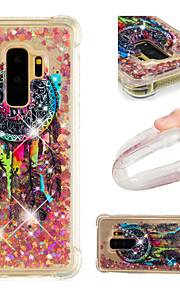 Case For Samsung Galaxy S9 / S9 Plus Shockproof / Flowing Liquid / Pattern Back Cover Glitter Shine / Dream Catcher Soft TPU for S9 Plus