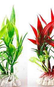 수족관 장식 장식품 / 수중식물 물 세탁 가능 / 무독성&무미 / 장식 플라스틱