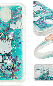 Case For Samsung Galaxy J2 PRO 2018 / J2 Prime Shockproof / Flowing Liquid / Pattern Back Cover Unicorn / Glitter Shine Soft TPU for J7