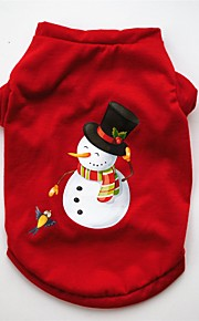 Dogs / Cats / Pets Vest Dog Clothes Christmas / American / USA / Cartoon Red Cotton Costume For Pets Female Party / Holiday