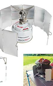 Kampeerbord Kookgerei Mini / Winddicht / Lichtgewicht Aluminium Buiten voor Wandelen / Kamperen Zilver