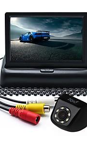ZIQIAO 4.3 in TFT-LCD CCD Przewodowa 170 stopni Zestaw z tylną kamerą Wodoodporny / Składany na Samochód