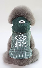 Dogs Coat Dog Clothes British / Slogan Gray / Green Cotton Costume For Pets Unisex Casual / Daily / Warm Ups