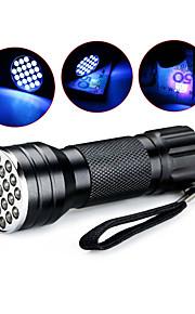 D12UV-1-0-2 פנס LED / פנסי תאורת אולטרה סגול / פנסי יד LED 1 מצב תאורה עמיד במים / אור אולטרה סגול מחנאות / צעידות / טיולי מערות / שימוש יומיומי / ציד כחול