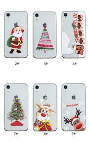 Kılıf Na Jabłko iPhone XS / iPhone XS Max Transparentny / Wzór Osłona tylna Święta Miękka TPU na iPhone XS / iPhone XR / iPhone XS Max