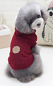 Dogs / Cats Sweater Dog Clothes Solid Colored / Letter & Number Gray / Fuchsia / Blue Woolen Costume For Pets Unisex Casual / Daily / Warm Ups
