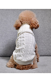 Dogs Sweater Dog Clothes Solid Colored / Simple / Stripe White / Dark Blue / Pink Other Material / Chenille Costume For Pets Unisex Warm Ups / Stripes