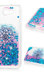 Case For Samsung Galaxy J3 (2017) Flowing Liquid / Glitter Shine Back Cover Flower Soft TPU for J3 (2017)