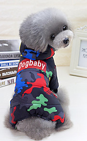 Dogs / Cats Coat / Jumpsuit Dog Clothes Quotes & Sayings / Camouflage Black / Red Cotton Costume For Pets Unisex Punk / Color Block