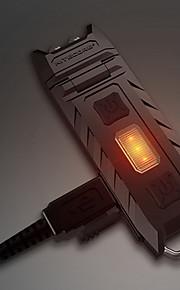 Nitecore THUMB 열쇠고리 손전등 LED 이미 터 85 lm 3 조명 모드 충전식, 밝기조절가능, 앵글헤드 캠핑 / 등산 / 동굴탐험, 일상용, 야외 블랙