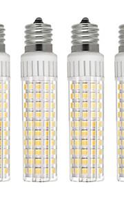 4pcs 8.5 W 1105 lm E17 Bombillas LED de Mazorca T 125 Cuentas LED SMD 2835 Regulable Blanco Cálido / Blanco Fresco 110 V