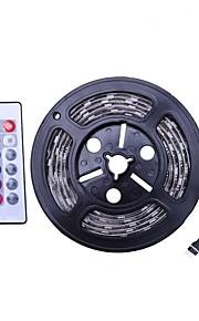 2m Set luci 120 LED SMD5050 1 telecomando da 24Keys Colori primari Impermeabile / Accorciabile / USB 5 V 1 set
