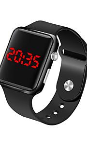Męskie Zegarek na nadgarstek Cyfrowy 30 m Wodoszczelny / Wodoodporny LCD Silikon Pasmo Cyfrowy Moda Minimalistyczny Czarny - Fuksja Niebieski Różowe złoto