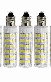 5pcs 4.5 W 450 lm E11 أضواء LED ذرة T 76 الخرز LED SMD 2835 تخفيت أبيض دافئ / أبيض كول 110 V