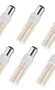 6 szt. 7.5 W 937 lm BA15D Żarówki LED kukurydza T 100 Koraliki LED SMD 2835 Ciepła biel / Zimna biel 85-265 V