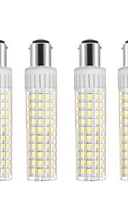 4pcs 8.5 W 1105 lm BA15D Bombillas LED de Mazorca T 125 Cuentas LED SMD 2835 Regulable Blanco Cálido / Blanco Fresco 220 V