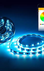 BRELONG® 5m أضواء RGB بشكل شريط 150 المصابيح 5050 SMD RGB ضد الماء / ديكور / اللصق التلقي USB آلي ب 1PC