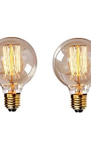 2pcs 40 W E26 / E27 G95 Warm wit 2200-2700 k Retro / Dimbaar / Decoratief Gloeilamp Vintage Edison Gloeilamp 220-240 V